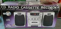 Lenoxx Sound CD-149 AM/FM Radio CD Cassette Player Recorder Boombox NIB