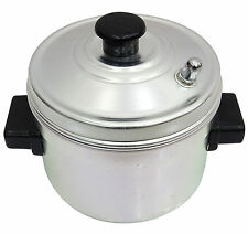 Indian Aluminum Idli Maker Stand 4 Plates Rack Cooker Set Idly Kitchen Appliance