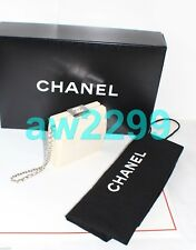 Auth Chanel Classic Hard Lucite Case Chain Clutch Bag Ivory Collector's Item