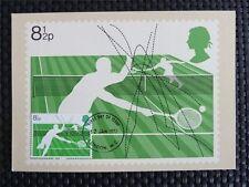 GB UK MK 1977 TENNIS MAXIMUMKARTE CARTE MAXIMUM CARD MC CM c5045