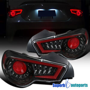 For 2013-2016 Shiny Black FR-S BRZ LED Tail Lights Brake Lamps Replacement