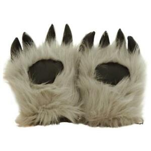 Faux Fur Bear Wolf Paw Gloves Furry Animal Claw Mitts Halloween Cosplay Favors