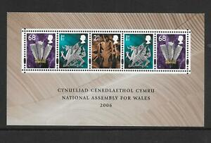 """MINIATURE SHEET MSW143 """"ASSEMBLY FOR WALES""""  MNH UM  FREE POST"""