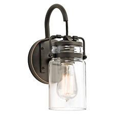 kichler BRINLEY 1LT luce a parete 1 x 100W E27 220-240V 50Hz CLASSE i