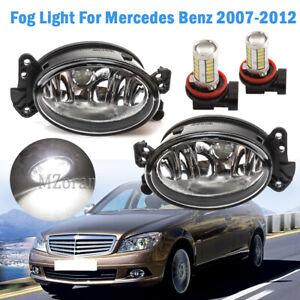 LED Front Fog Lights Lamp For Mercedes Benz W211 E350 E550 2007-2012 W/Bulb Pair