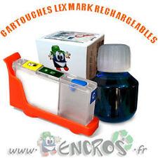 RECHARGEABLE-  Kit Cartouche Rechargeable LEXMARK 100 Cyan Garantie ENCROS