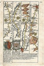 Antique map, Road from London to Montgomery