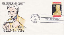STEVE WILSON HAND PAINTED FIRST DAY COVER FDC 1990 U.S. SUPREME COURT BICENTENNI