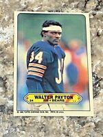 1983 Topps Sticker Walter Payton #24 Chicago Bears HOF NFL Football Card 2