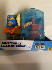 Hot Wheels Downtown Ice Cream Meltdown City vs Robo Beasts Pack Set Build