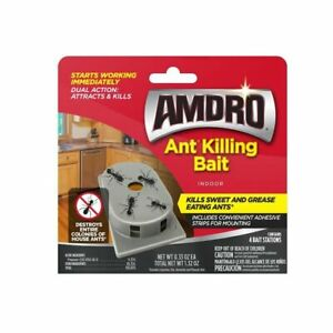 AMDRO 4-Count Ant Bait Station Kills sweet and grease eating ants 🏴‍☠️