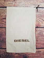 DIESEL Drawstring Beige Storage Travel Dust Bag - 14.5 X 9 Inches