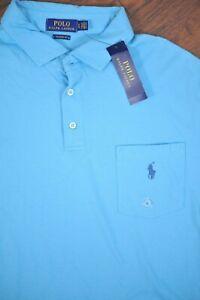 NWT Polo Ralph Lauren Pocket Polo Shirt Blue Men's XL
