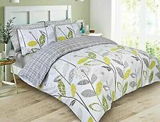 Dreamscene  ALLIUMGRGY02 Double Luxurious Allium Duvet with Pillowcase - Grey