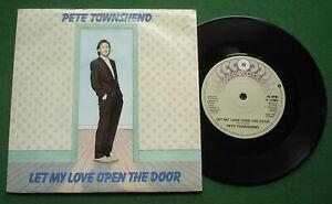 """Pete Townshend Let My Love Open The Door / Classified + K11486 7"""" Single"""