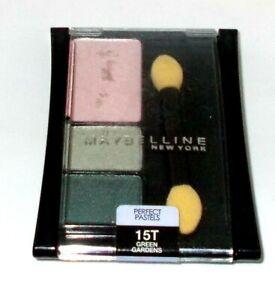 Maybelline Expert Wear Eye Shadow Trio Perfect Pastels GREEN GARDENS 15T Sealed