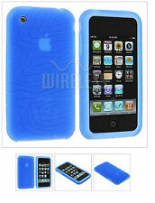 Apple iPhone Cover Silicone Blu Spirale 3G S 3GS