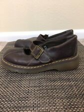 Doc Dr. Martens Womens 12277 Brown Leather Mary Jane Flats Sz US 11 UK 9 Vtg