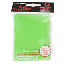 Trading Card Supplies - Ultra Pro DECK PROTECTORS - LIME GREEN (50 pack) - New