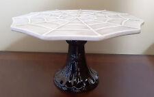 NEW Magenta Halloween Spider Web Cake Cupcake Dessert Pedestal Stand