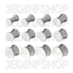 Ear Plug Stretcher Expander - Double Flared Saddle | 2mm-20mm | Stainless Steel