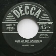 Country 45 Ernest Tubb - Rose Of The Mountain / I'M With A Crowd But So Alone On