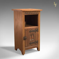Mid-Century Oak Bedside Cabinet, Arts & Crafts, Vintage Liberty / Heals Quality