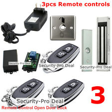 Door Access Control System With Magnetic Door Lock +3 Wireless Remote Controls