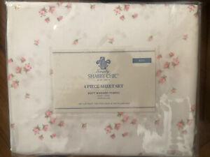 Rachel Ashwell Simply Shabby Chic Polyester King White Sprinkles Sheet Set Roses