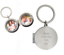 Personalised Photo Keyring - Engraved Frame - New Mum Dad Baby