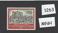 #1263      MNH 1944 stamp / Cracow or Kracow In occupied Poland WWII Third Reich