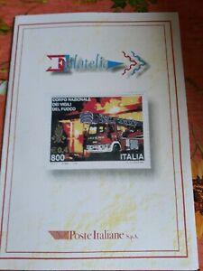 Folder Poste Italiane 1999 Corpo Nazionale Vigili del fuoco