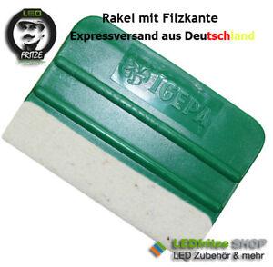 Igepa 10cm x 7cm Rakel mit Filzkante für Folie - Kantenfilzrakel grün Filz Stoff