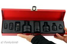 8pc Heavy Duty Impact Socket Adaptor Converter And Reducer Set Air Metal Case