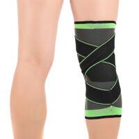 Elastic Knee Compression Sleeve Brace Wrap Prevent Leg Muscle Strain 3XL