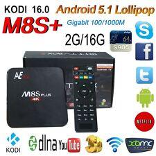 M8S+ M8S Plus 2G/16G Android 5.1 TV Box Amlogic S905 1000M Lan WIFI BT KD 16.0