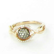 Le Vian Petite Chocolate Vanilla Pave Diamond Ring 14K Rose Gold New Sz 7 $999