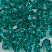 100pcs Hole green exquisite Glass Crystal 4mm #5301 Bicone Beads loose beads