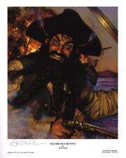 BLACKBEARD REVENGE ~ Don Maitz Signed Maritime Pirate Art Print BLACK BEARD