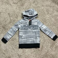 UNDER ARMOUR THREADBORNE YSM YOUTH GRAY PULLOVER HOODIE COLDGEAR LOOSE