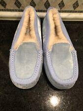 Women's UGG Ansley Blue Velvet Slippers- size 6-#1110412