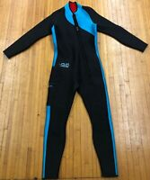Womens SAS Sub Aquatic Suits Aqua Black Full Length One Piece Wet Suit Size M