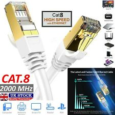 CAT 8 Ethernet Cable 3 Ft Black Flat 40Gbps High Speed Shielded RJ45 LAN Cable