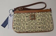 Dooney & Bourke DB Signature Canvas Coin Purse Wristlet 2Y111R BLACK Retail $78