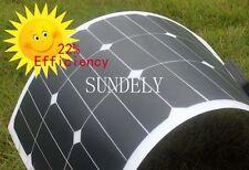 Semi-Flexible Sunpower 20w 20 Watt Lightweight Solar Panel 12v Battery Off Grid