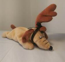 """Dr. Seuss Max How the Grinch Stole Christmas Dog 9"""" Plush Beanie Toy Stuffed"""