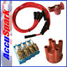 Ford Pinto Accuspark IRIDIUM Spark Plugs ,Cap+Red Rotor + Red leads - Bosch