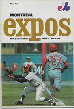 1970 Montreal Expos Baseball Program Magazine Expos Vs New York Mets Vol 2 No 3