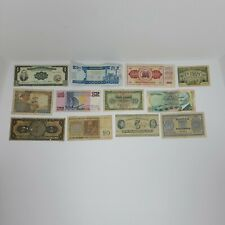 12 Pc Lot of Different World Currency Foreign Banknotes, 1920s to 70s Some Rare