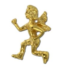 Guardian Angel Lapel Pin Wings Running Relay For Life Gold Plate Cap Tac USA New